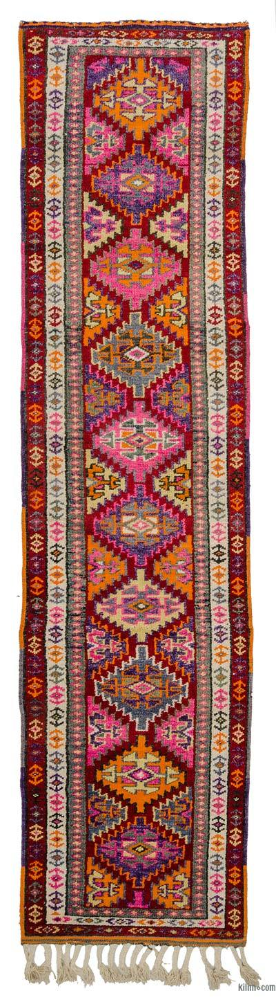 "Vintage Turkish Runner Rug - 2'9"" x 11'8"" (33 in. x 140 in.)"