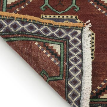 """Vintage Turkish Hand-Knotted Rug - 1' 7"""" x 1' 6"""" (19 in. x 18 in.) - K0034124"""