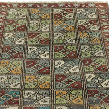 """Vintage Turkish Hand-Knotted Rug - 2' 1"""" x 3' 2"""" (25 in. x 38 in.) - K0034133"""