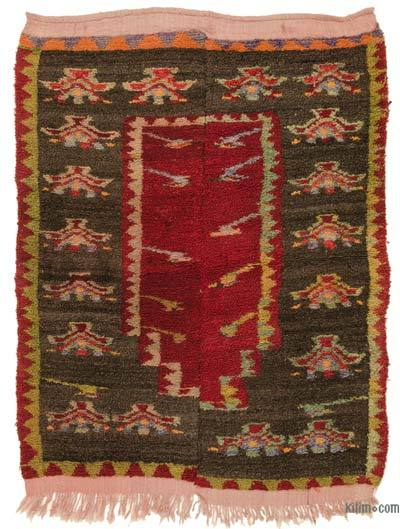 Multicolor Turkish Vintage Tulu Rug