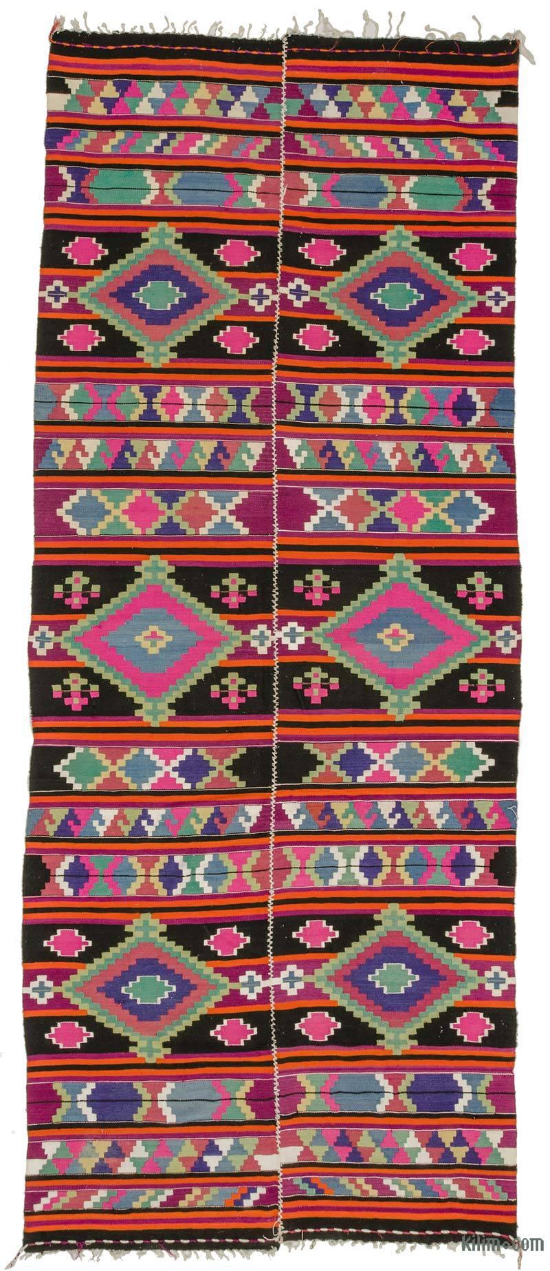 Çok Renkli Pötürge Kilimi - 170 cm x 415 cm - K0034200