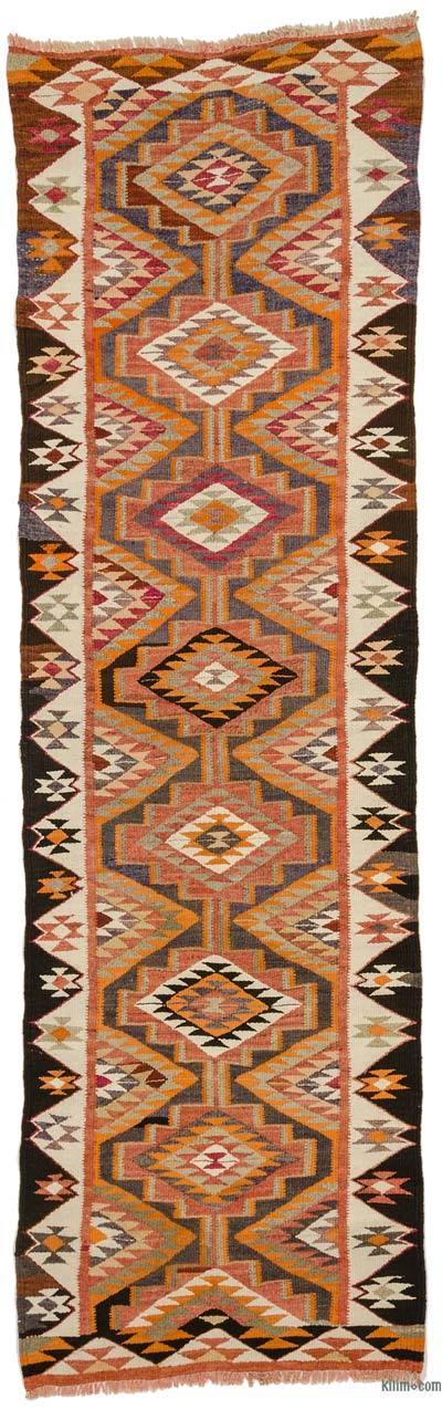"Vintage Turkish Kilim Runner - 3' 1"" x 10'  (37 in. x 120 in.)"