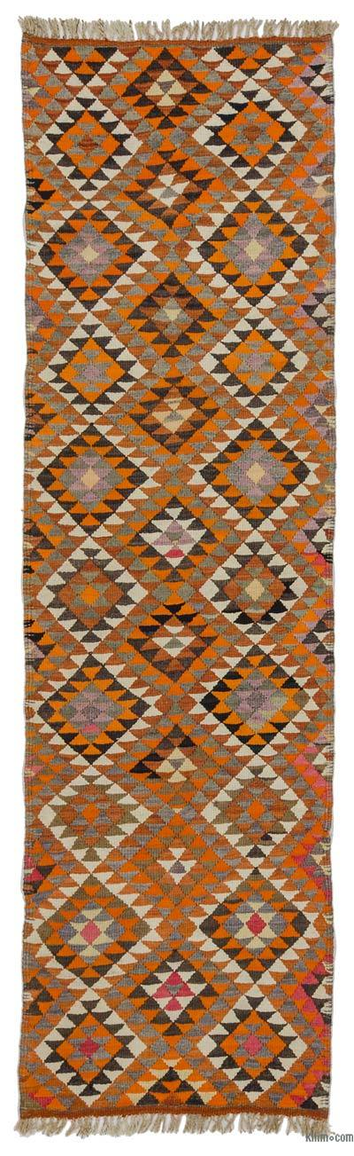 "Vintage Turkish Kilim Runner - 2' 8"" x 9' 6"" (32 in. x 114 in.)"