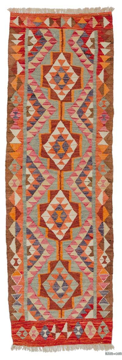 "Vintage Turkish Kilim Runner - 3'  x 9' 4"" (36 in. x 112 in.)"