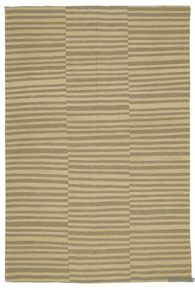 "New Handwoven Turkish Kilim Rug - 5'10"" x 9'2"" (70 in. x 110 in.)"