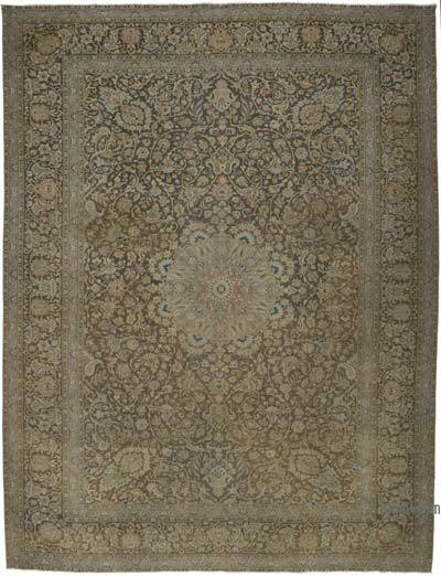 "Vintage Hand-knotted Oriental Rug - 10' 2"" x 13' 6"" (122 in. x 162 in.)"