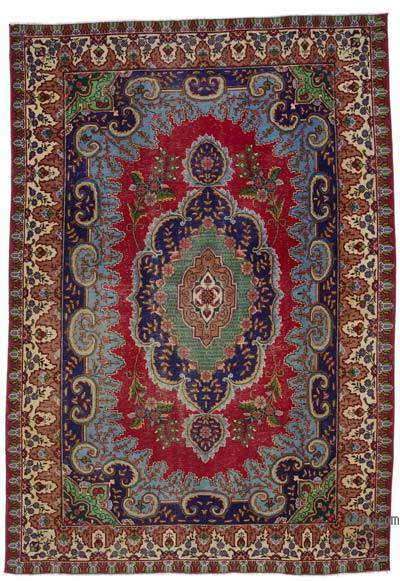 """Vintage Hand-knotted Oriental Rug - 6' 7"""" x 9' 7"""" (79 in. x 115 in.)"""