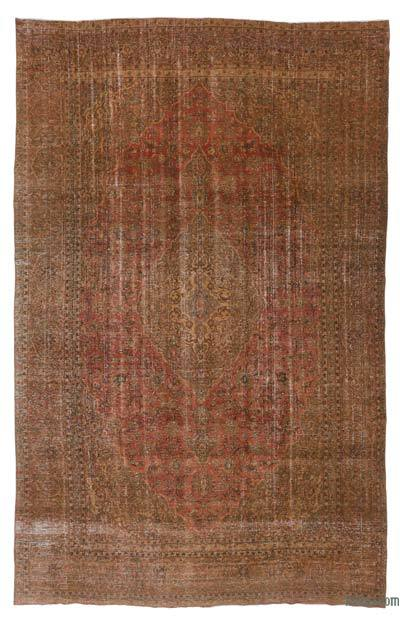 "Over-dyed Vintage Hand-knotted Oriental Rug - 8'11"" x 14'1"" (107 in. x 169 in.)"