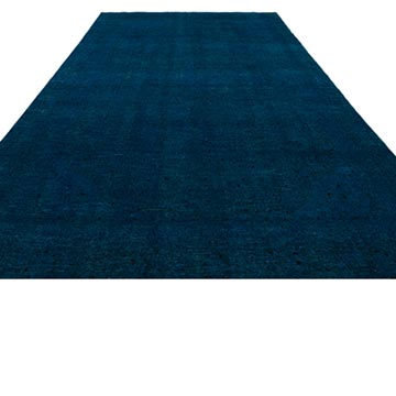 """Over-dyed Vintage Hand-Knotted Oriental Rug - 8' 7"""" x 13'  (103 in. x 156 in.) - K0034375"""