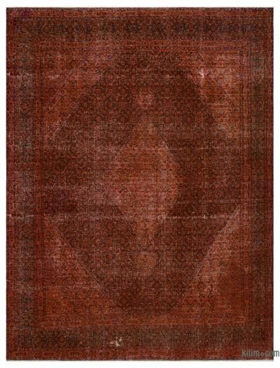 """Over-dyed Vintage Hand-knotted Oriental Rug - 9'7"""" x 12'10"""" (115 in. x 154 in.)"""