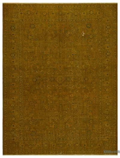 Boyalı El Dokuma Vintage Halı - 301 cm x 401 cm