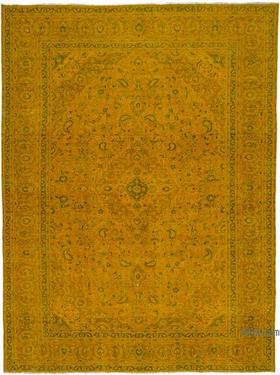 """Over-dyed Vintage Hand-knotted Oriental Rug - 9'6"""" x 12'9"""" (114 in. x 153 in.)"""