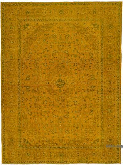 Boyalı El Dokuma Vintage Halı - 290 cm x 389 cm