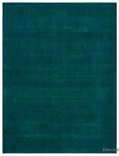 """Over-dyed Vintage Hand-knotted Oriental Rug - 9' 7"""" x 12' 9"""" (115 in. x 153 in.)"""