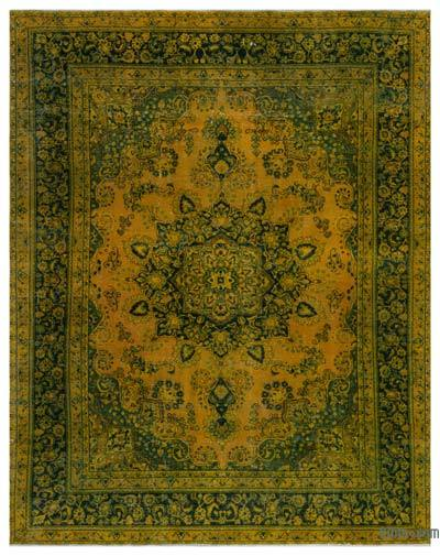 """Over-dyed Vintage Hand-knotted Oriental Rug - 9' 7"""" x 12' 2"""" (115 in. x 146 in.)"""