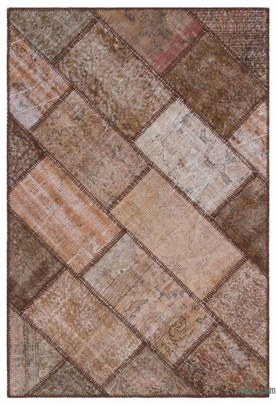 "Over-dyed Turkish Patchwork Rug - 4' x 5'11"" (48 in. x 71 in.)"