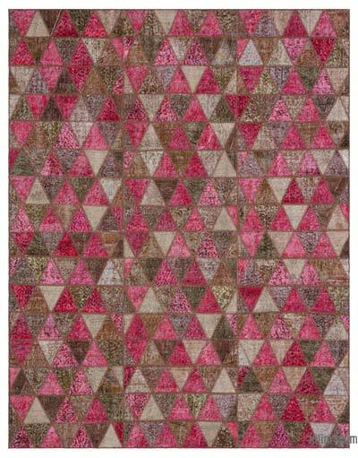 "Over-dyed Turkish Patchwork Rug - 6' x 7'9"" (72 in. x 93 in.)"