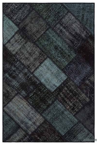 """Over-dyed Turkish Patchwork Rug - 3'11"""" x 5'11"""" (47 in. x 71 in.)"""
