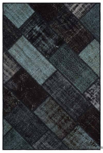 Boyalı Patchwork Halı - 120 cm x 180 cm