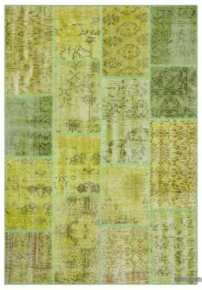 Boyalı Patchwork Halı - 160 cm x 230 cm