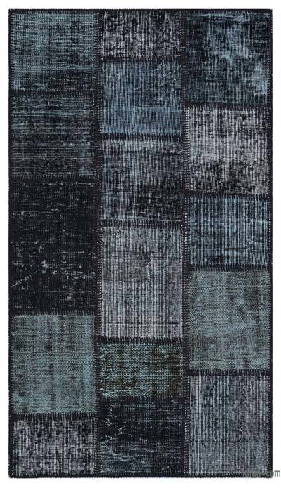 """Over-dyed Turkish Patchwork Rug - 2'7"""" x 4'11"""" (31 in. x 59 in.)"""