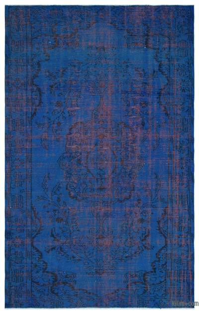 """Over-dyed Turkish Vintage Rug - 5'11"""" x 9'4"""" (71 in. x 112 in.)"""