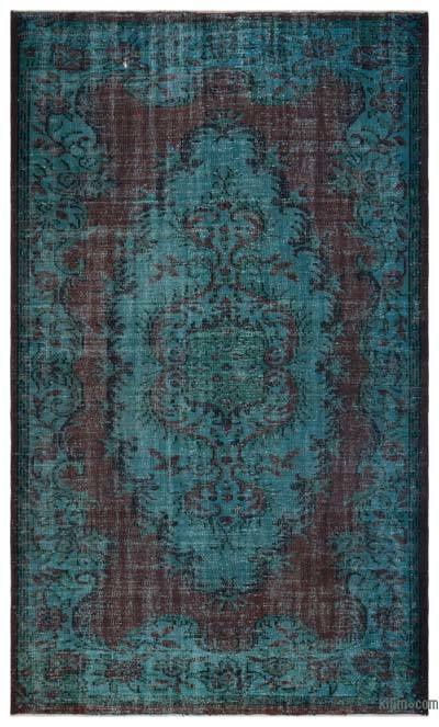 """Over-dyed Turkish Vintage Rug - 5' 6"""" x 9' 2"""" (66 in. x 110 in.)"""