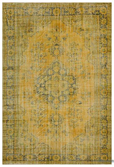 "Over-dyed Turkish Vintage Rug - 6'3"" x 9'2"" (75 in. x 110 in.)"