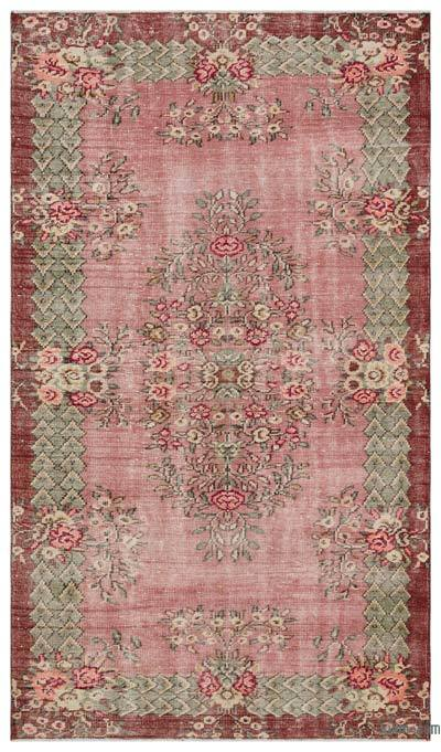 "Turkish Vintage Area Rug - 5'3"" x 9' (63 in. x 108 in.)"
