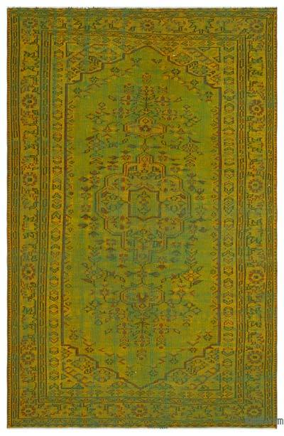 "Over-dyed Turkish Vintage Rug - 5' 5"" x 8' 4"" (65 in. x 100 in.)"