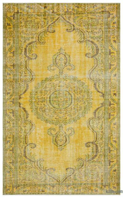 "Over-dyed Turkish Vintage Rug - 5' 9"" x 9' 5"" (69 in. x 113 in.)"