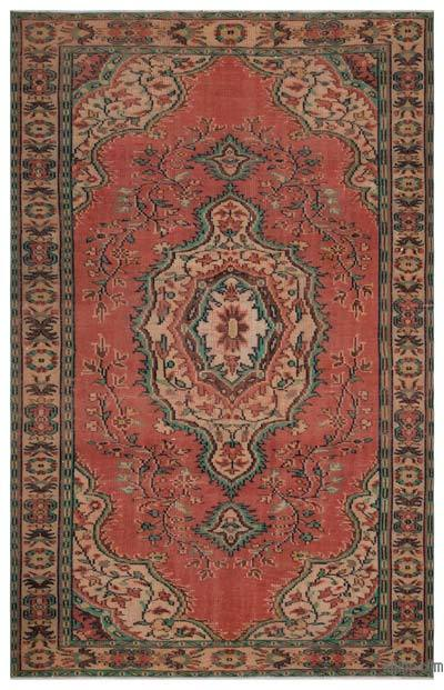 """Turkish Vintage Area Rug - 5'6"""" x 8'8"""" (66 in. x 104 in.)"""