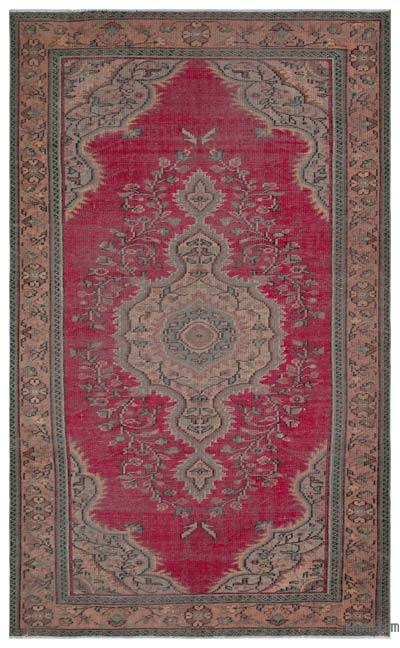 """Turkish Vintage Area Rug - 5'5"""" x 9' (65 in. x 108 in.)"""