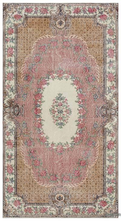 El Dokuma Vintage Halı - 118 cm x 216 cm