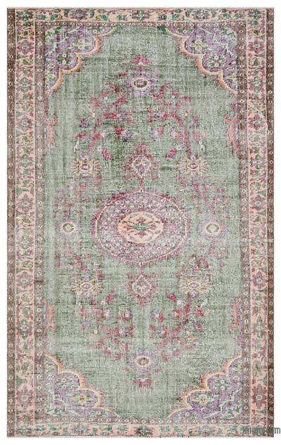 """Turkish Vintage Area Rug - 5'6"""" x 8'11"""" (66 in. x 107 in.)"""