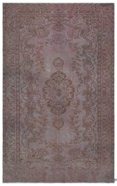 Boyalı El Dokuma Vintage Halı - 182 cm x 287 cm