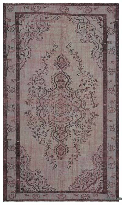 """Vintage Turkish Hand-Knotted Rug - 5' 5"""" x 9' 3"""" (65 in. x 111 in.)"""