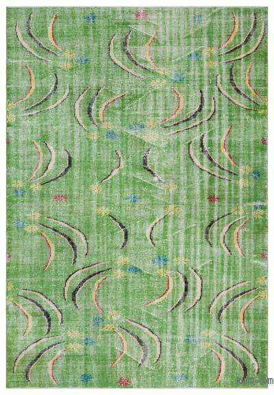 """Turkish Vintage Area Rug - 6'1"""" x 8'10"""" (73 in. x 106 in.)"""