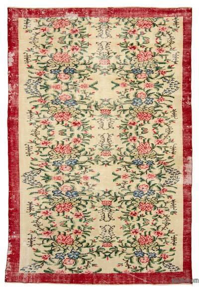 "Turkish Vintage Area Rug - 5' 10"" x 8' 10"" (70 in. x 106 in.)"