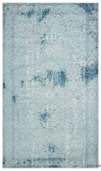 """Over-dyed Turkish Vintage Rug - 5' 5"""" x 9' 2"""" (65 in. x 110 in.)"""