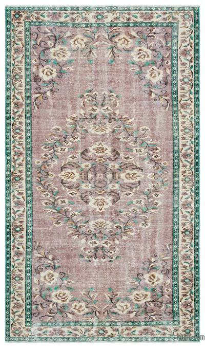 """Turkish Vintage Area Rug - 4' 10"""" x 8' 4"""" (58 in. x 100 in.)"""