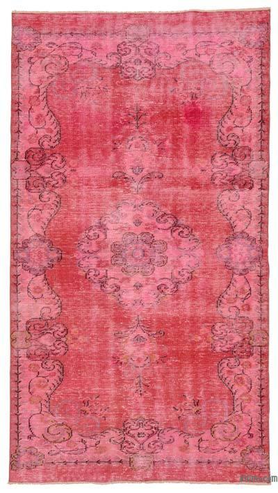 Boyalı El Dokuma Vintage Halı - 150 cm x 270 cm