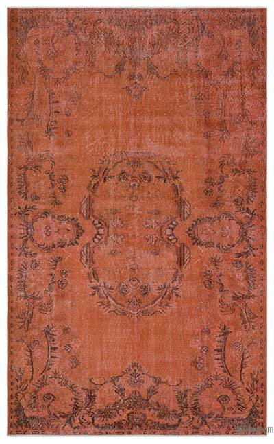 """Over-dyed Turkish Vintage Rug - 6'3"""" x 10' (75 in. x 120 in.)"""