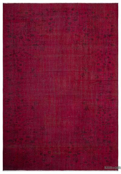 """Over-dyed Turkish Vintage Rug - 6' 4"""" x 9' 1"""" (76 in. x 109 in.)"""