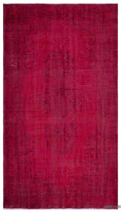 """Over-dyed Turkish Vintage Rug - 5' 7"""" x 9' 7"""" (67 in. x 115 in.)"""