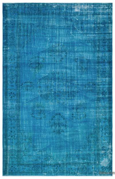"""Over-dyed Turkish Vintage Rug - 6'8"""" x 10'3"""" (80 in. x 123 in.)"""