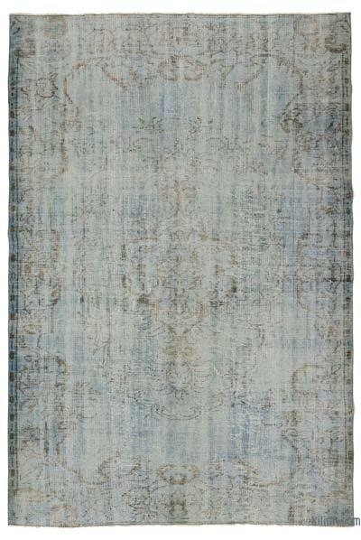 """Over-dyed Turkish Vintage Rug - 5'5"""" x 8'2"""" (65 in. x 98 in.)"""