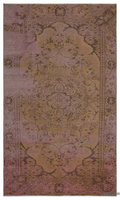 "Over-dyed Turkish Vintage Rug - 5' 1"" x 8' 7"" (61 in. x 103 in.)"