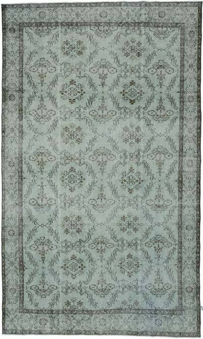"""Over-dyed Turkish Vintage Rug - 6'1"""" x 10'1"""" (73 in. x 121 in.)"""