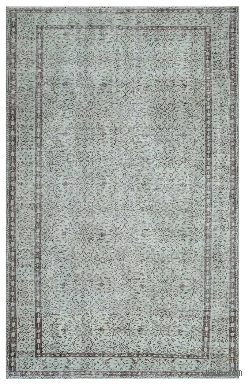 """Vintage Turkish Hand-Knotted Rug - 5' 8"""" x 9'  (68 in. x 108 in.) - K0035005"""